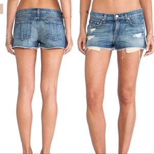 Rag & Bone The Mila Denim Shorts In Moss Size 25